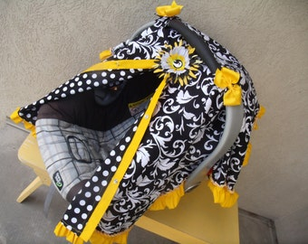 Baby Carseat Canopy FREESHIP Cover / Carseat Tent / Carseat Blanket CReATE YouR OWN Colors RuFFle Cover
