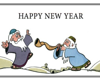Blowing in the New Year with the 2 Happy Rabbis.