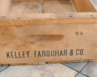 Vintage Wooden Crate/Orchard Crate/ Fruit Crate/Wedding Decor/Rustic Decor/Organization/ SALE