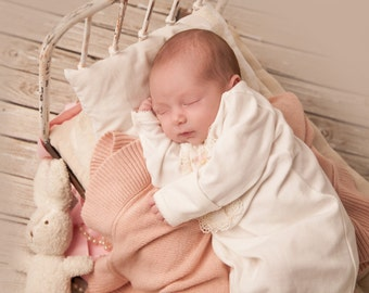 Mattress & Pillow Set for Newborn Photo Prop Bed