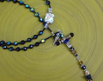 50 Bead Chotki, Prayer Rope, Komboskini, St. Pachomius, Jesus Prayer, Black