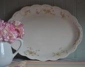 Vintage Johnson Brothers England Pink Flower Platter