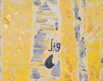 Addition of Heart + Initials onto any Aspen Tree Painting