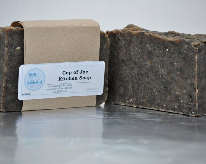 Cup of Joe Kitchen Soap -- All Natural Coffee Soap, Handmade Soap, Man-friendly Soap, Organic Sustainable Palm, Coffee Soap, Best Seller