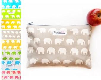Medium Wet Bag Pouch / Nappy Wallet / Diaper Case  - Elephant (Choose Your Color)