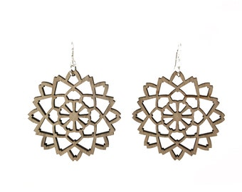 marigold flower earrings