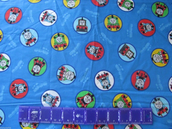 Thomas the train fabric remanant kids thomas and friends for Kids train fabric