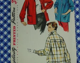 Vintage Pattern c.1954 Simplicity No.4945 Jacket, Size 12  Uncut