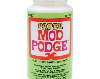 Mod Podge Paper Gloss Finish - 16 ounces (315680)