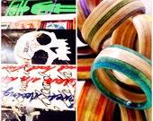 Custom Recycled Skateboard Wood Ring