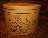 Reproduction Gold Hatbox  9 tall x 14 - ON HOLD