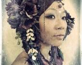 Reserved for Danielle -Goddess Headdress// Tribal, Belly Dance, Costume, Accessories, Purple, Kuchi, Yarn