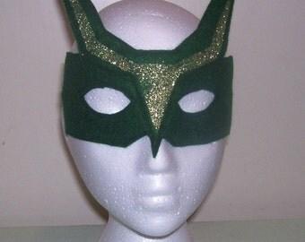 Dragon, Super Hero child's felt mask with reinforced elastic band