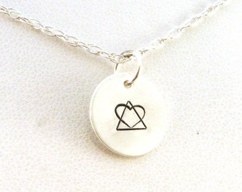 Adoption Symbol Necklace / Adoption Necklace / Adoption Jewelry / Sterling Silver Jewelry / Birth Mother Necklace / Social Worker Gift