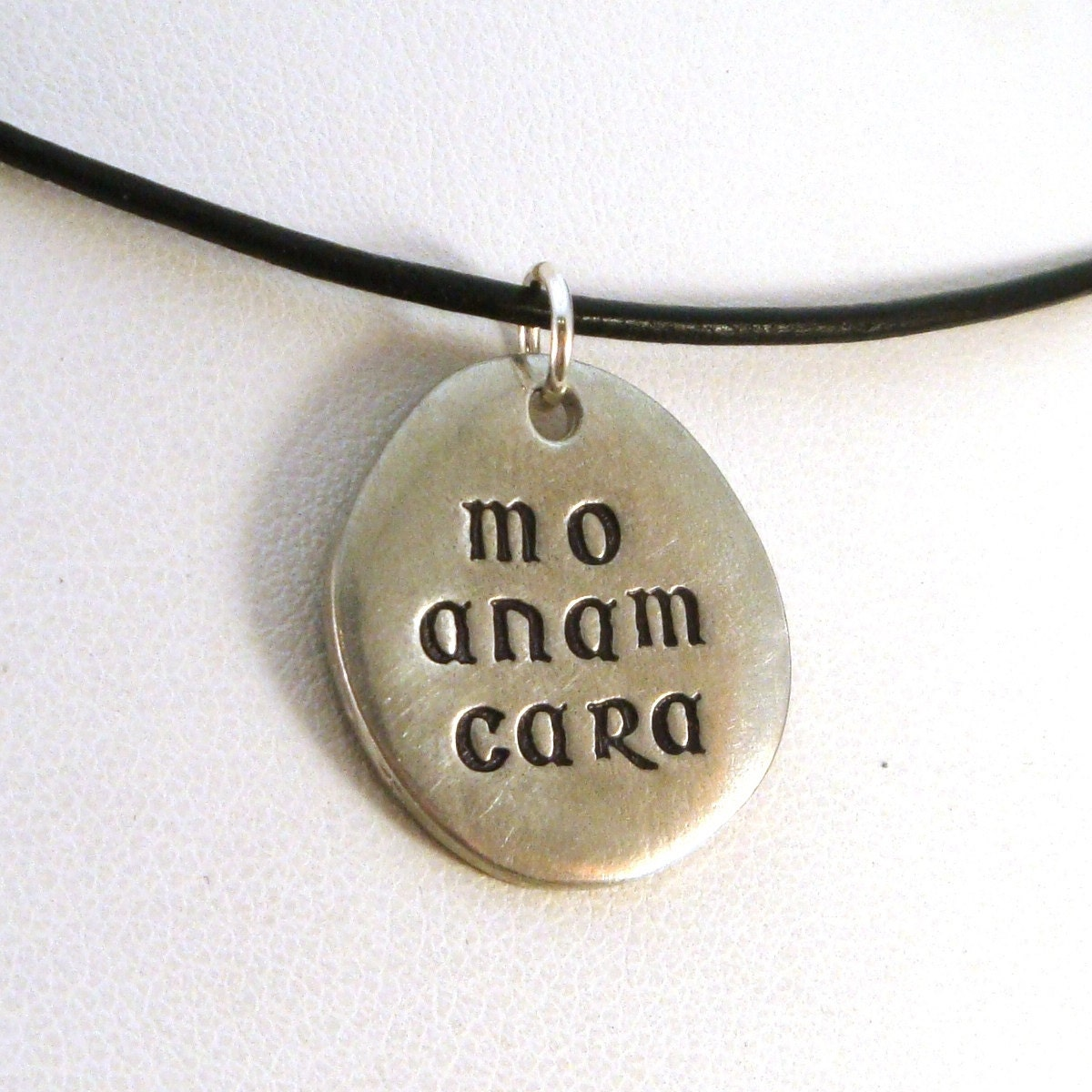 mo anam cara pewter necklace leather or stainless chain