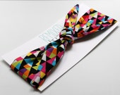 Tie Up Head Scarf Rainbow Triangles- Headband