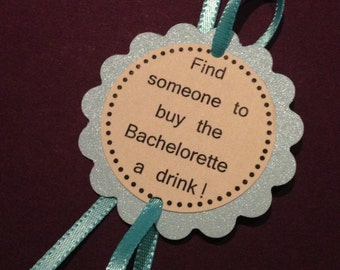 Blue or Green Bachelorette Party Game Bracelets - Glitter Jewelry Decorations  - set of 12 - customizable for Birthdays