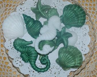 Seashell Soap ~ Sea Shell Soap ~  Decorative Shell Soap ~ Sea Horse Soap ~ Starfish Soap ~ Clam Shell Soap ~ Spiral Shell Soap