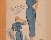 Vintage French 50s pattern Paris Luxe 5241 Bust 37 - halter dress and bolero
