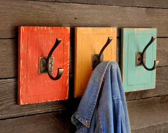 Entryway Coat Hook Bunk House 3 Piece Set Back-to-School Backpack Holder Hat Hook Mudroom Organization Dorm Decor