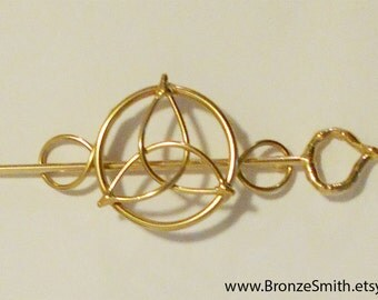 Bronze & Celtic Knot Barrette