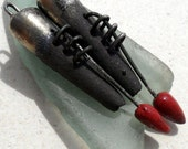 Bronzy and Red Stitched Droppers