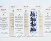 Photo Booth 2x6 Acrylic Frames with Custom inserts wedding Escort cards and party favor in one.