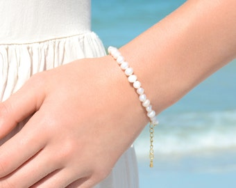 Pearl Bracelet Friendship Bracelet Beaded Bracelet Beach Boho Bracelet Beach Bracelet Beach Wedding Jewelry Boho Wedding Pearls Gift for Her