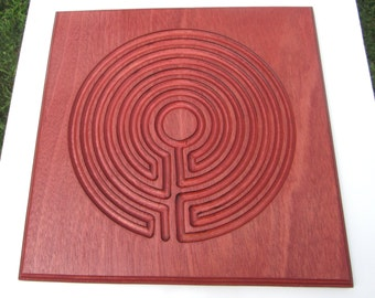 Finger Labyrinth With a Unique Characteristic - Engraved in Wood