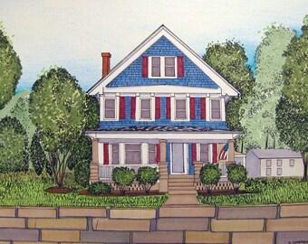 Custom House Portrait Illustrations