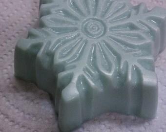 crisp as the newly fallen snow - snowflake soap