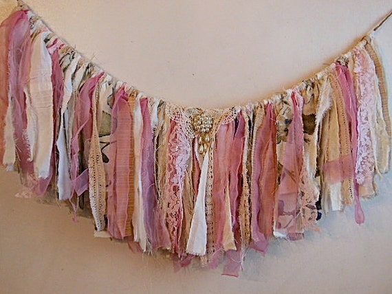 Rag Fringe Banner Fringe Garland Fabric Garland Photo