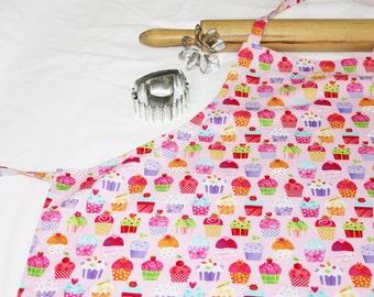 Gourmet Pink Cupcakes Adult Apron