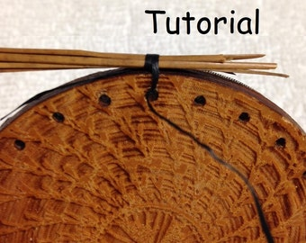 Starting a pine needle basket with a Locking Stitch - a Digital Download Tutorial