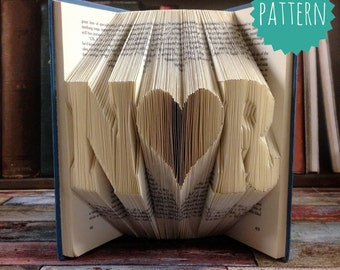 A Customizable Heart & Initials Pattern, Folded Book Art Tutorial