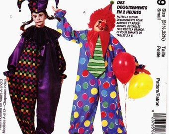 McCalls 6719 Adult Classic Clown/ Jester Costume Size Small (31 1/2 - 32 1/2) Uncut Pattern Easy 2 Hours-4