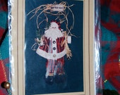 HO HO HO  18 Inch Santa Door Charmer Pattern by Pearl Louise Designs.