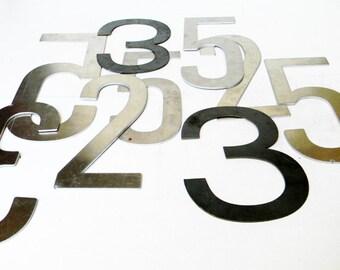 Vintage Marquee Numbers LARGE Vintage Mid Century Aluminum Numbers