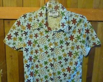 Vintage 70's Short Sleeve Blouse by Basics