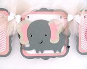 Elefant-Banner, Elefant baby-Dusche, Elefant Dekorationen, rosa und grauen Dekorationen, es ist ein Mädchen-Banner, Foto-Prop, Tisch-Zeichen