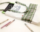 Silly Sac Crayon and Coloring Book Tote with Happy Monster