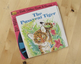 A Disneyland Record and Book - The Pussycat Tiger - 24 Page Book and 33 1/3 Record