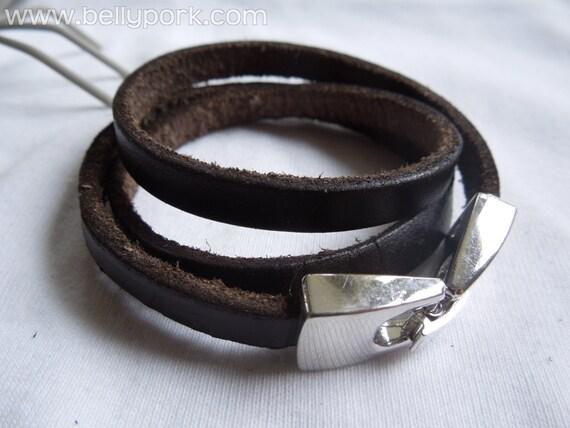 Mens bracelet, laps bracelet, leather bracelet, brown bracelet, mens bracelet, brown leather cuff, leather cuff, three laps cuff, laps cuff