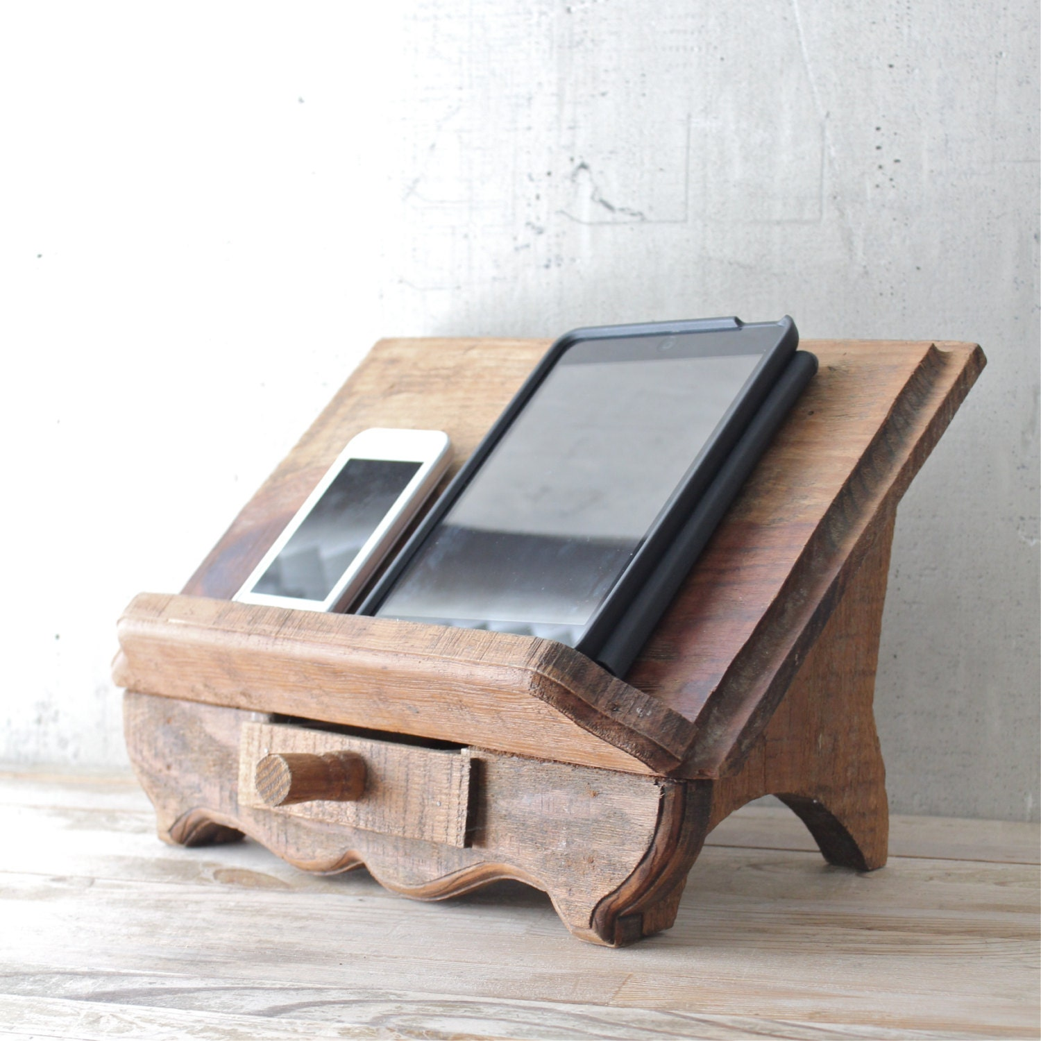 Wooden Bible Stand ~ Vintage wooden book stand by lovintagefinds on etsy