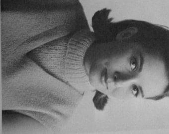 Practic Mock Turtleneck Dickie Neck Warmer Vintage Knitting Pattern