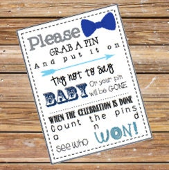 baby shower clothes pin game printable