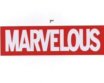 Marvelous sticker - marvel decal vinyl stick on graphic geek gift