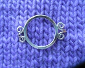 Sterling  Circle Tab Shawl Pin
