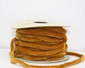 Custom Listing for Pat Ten yards  Gold vintage velvet cording spool