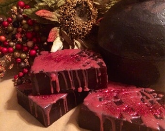 Hand crafted Chocolate Covered Cherries bar Soap